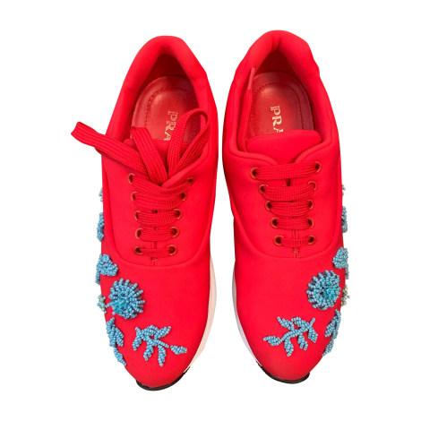 Chaussures de sport PRADA Rouge, bordeaux