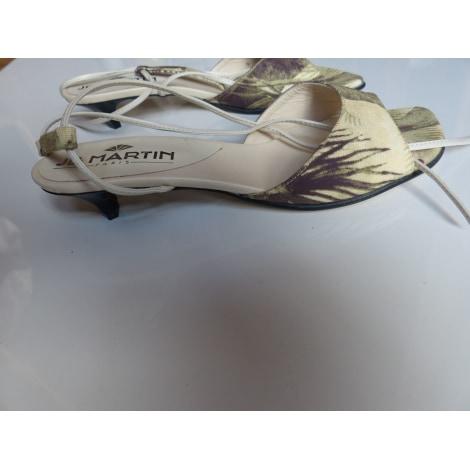 Sandales à talons JB MARTIN Crème kaki  vert