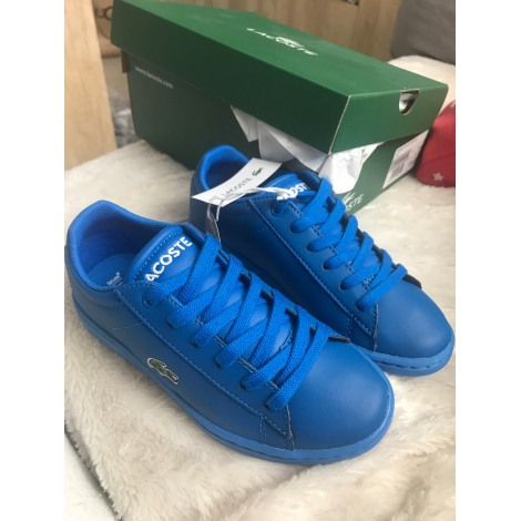 Baskets LACOSTE Bleu, bleu marine, bleu turquoise