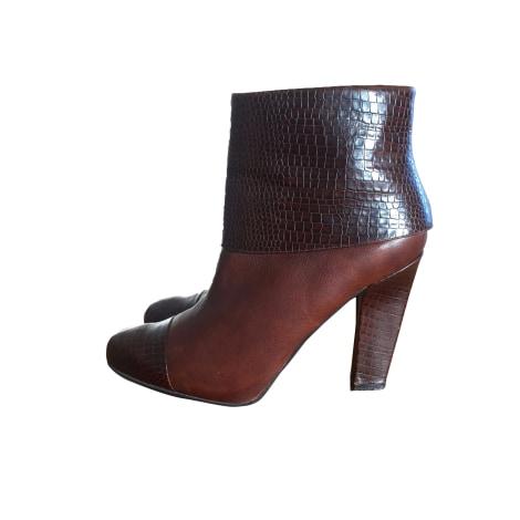 Bottines & low boots à talons NINE WEST Marron