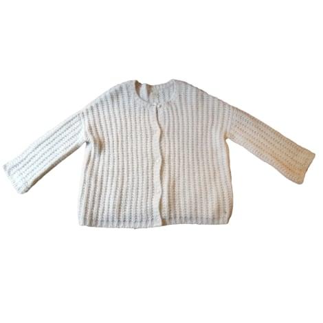 Gilet, cardigan DES PETITS HAUTS Blanc, blanc cassé, écru