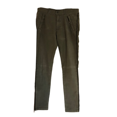Pantalon slim, cigarette THE KOOPLES Kaki