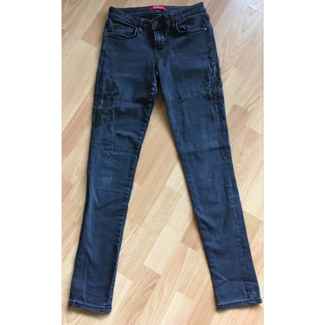Jeans slim GUESS Gris, anthracite