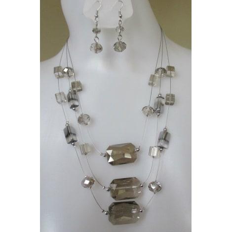 Parure bijoux MUSACRÉATION Argenté, acier