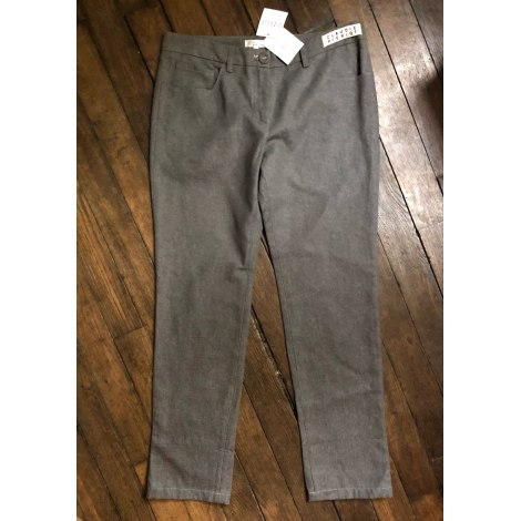 Pantalon slim, cigarette CLAUDIE PIERLOT Gris, anthracite