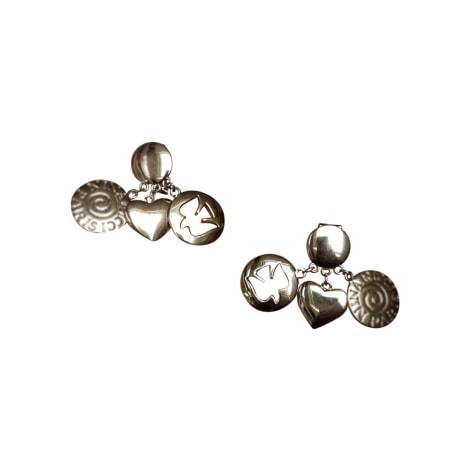 Boucles d'oreille NINA RICCI Argenté, acier