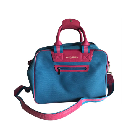 Sac XL en tissu LANCEL Bleu, bleu marine, bleu turquoise