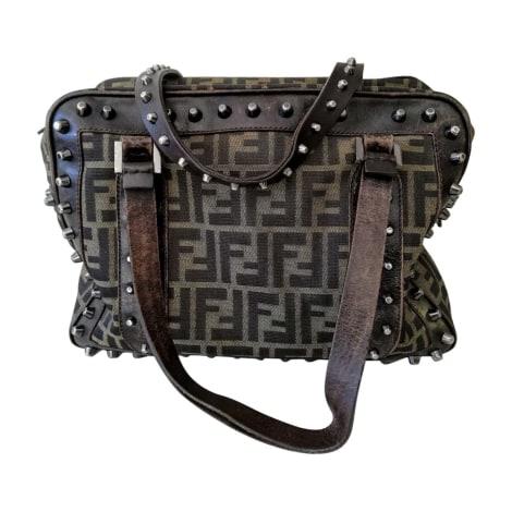Non-Leather Handbag FENDI Brown