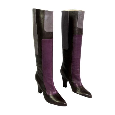 Bottes à talons STEPHANE KÉLIAN Marron, violet et gris tirant sur le lilas