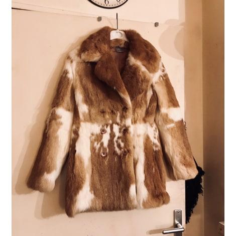 Manteau en fourrure VERO MODA Beige, camel