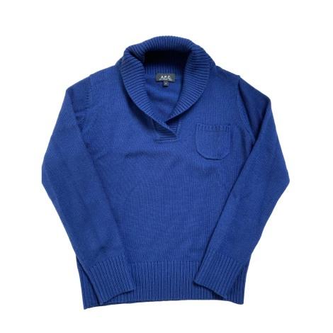 Pull APC Bleu, bleu marine, bleu turquoise