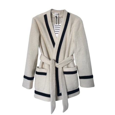Coat SÉZANE White, off-white, ecru