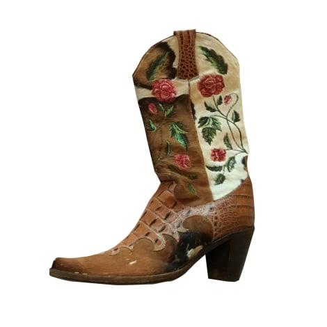 Santiags, bottes cowboy FREE LANCE Multicouleur