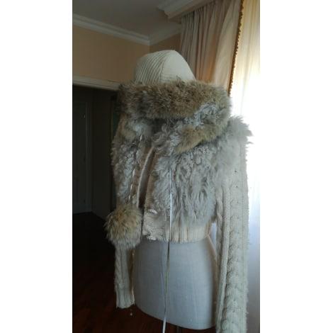 Blouson, veste en fourrure D&G Blanc, blanc cassé, écru