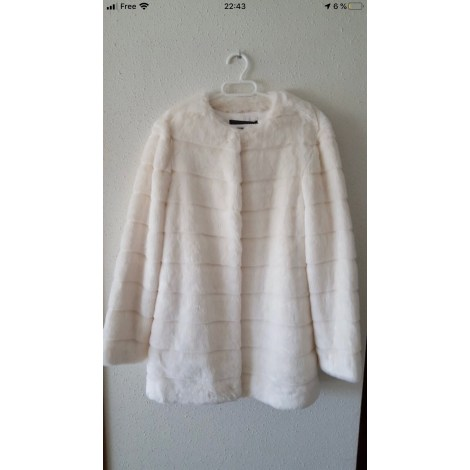 Manteau en fourrure ZARA Blanc, blanc cassé, écru