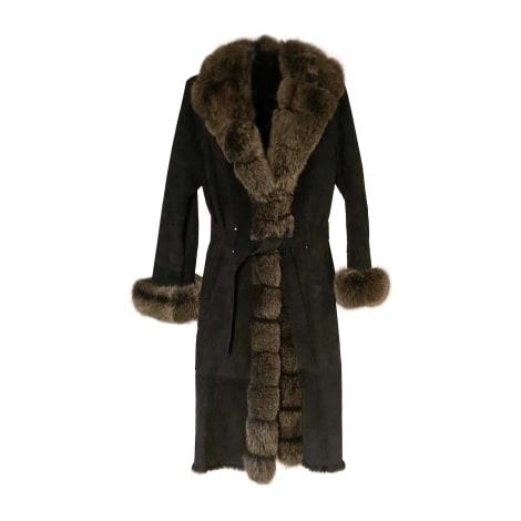 Manteau en fourrure YVES SALOMON Noir
