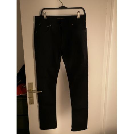 Pantalon slim NUDIE JEANS Noir
