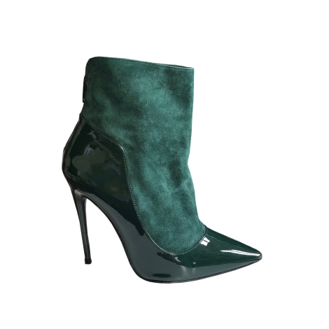 High Heel Ankle Boots BUFFALO Green