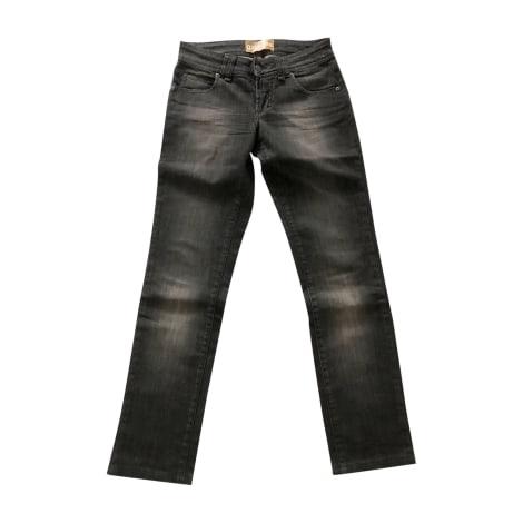Jeans droit JOHN GALLIANO Noir