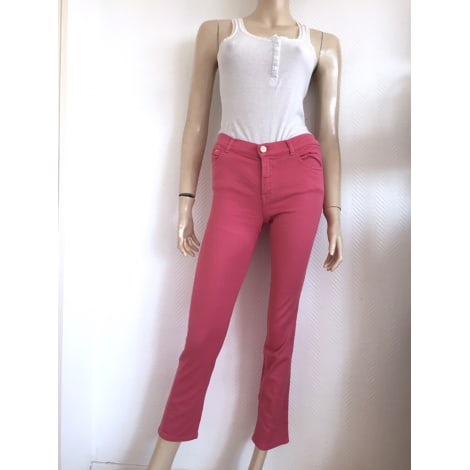 Jeans slim THE KOOPLES Rose, fuschia, vieux rose