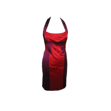 Robe dos nu KAREN MILLEN rouge vermillon & violet
