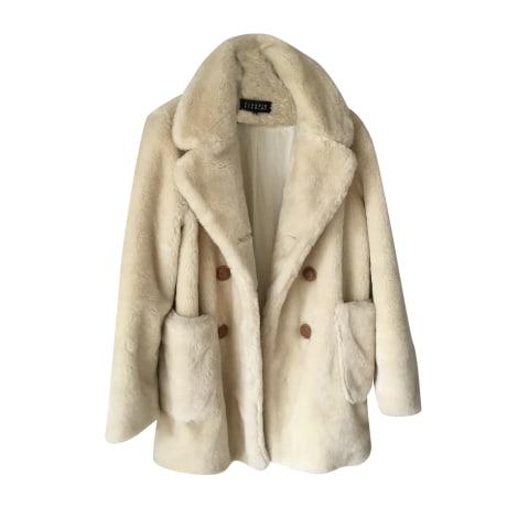 Fur Jackets CLAUDIE PIERLOT White, off-white, ecru