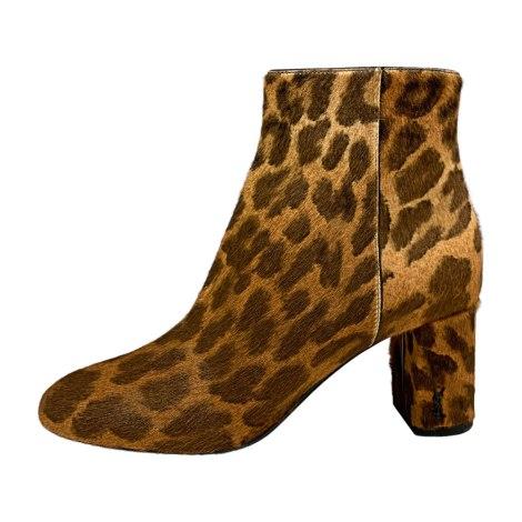 Bottines & low boots à talons SAINT LAURENT Marron