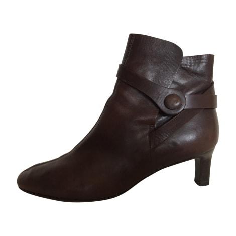 Bottines & low boots à talons SALVATORE FERRAGAMO Marron