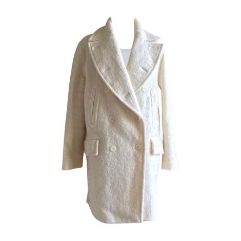 Manteau VANESSA BRUNO Blanc, blanc cassé, écru