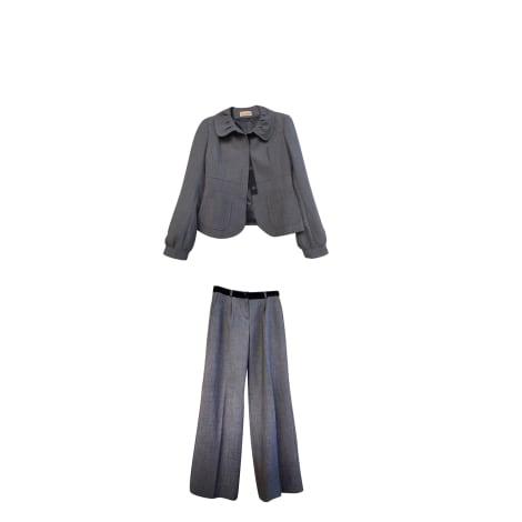 Tailleur pantalon ALAIN MANOUKIAN Gris, anthracite