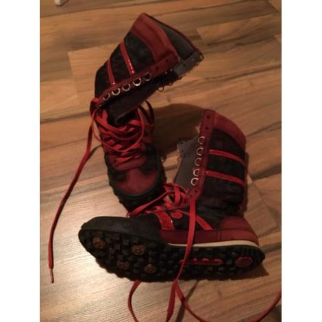 Bottines & low boots plates ART Rouge, bordeaux