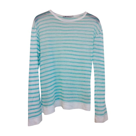 Tee-shirt T BY ALEXANDER WANG Turquoise/ off white