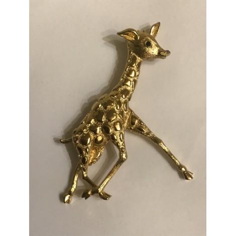Broche MONET Doré, bronze, cuivre
