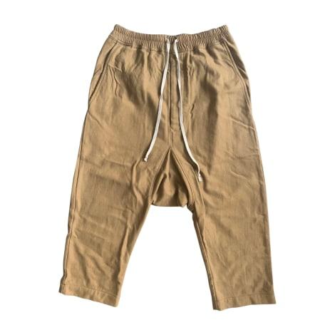 Pantalon large RICK OWENS Beige, camel