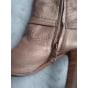 Bottes à talons BALLY Doré, bronze, cuivre