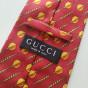 Cravate GUCCI Rouge, bordeaux