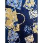 Foulard HERMÈS Carré Bleu, bleu marine, bleu turquoise