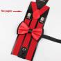 Suspenders MARQUE INCONNUE Red, burgundy