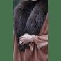 Manteau en fourrure FATIMA KARIM Marron