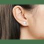 Boucles d'oreille MARQUE INCONNUE Blanc, blanc cassé, écru