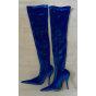 Bottes cuissards BALENCIAGA Knife Bleu, bleu marine, bleu turquoise