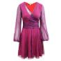 Robe courte DIANE VON FURSTENBERG Violet, mauve, lavande