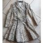 Manteau en cuir VALENTINO Multicouleur