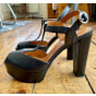 Sandales compensées WHAT FOR Noir