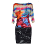 Robe courte WHO'S WHO Multicouleur