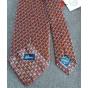 Cravate BRIONI Rouge, bordeaux