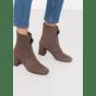 Bottines & low boots à talons MANGO Gris, anthracite