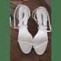 Sandales à talons MANOLO BLAHNIK Blanc, blanc cassé, écru
