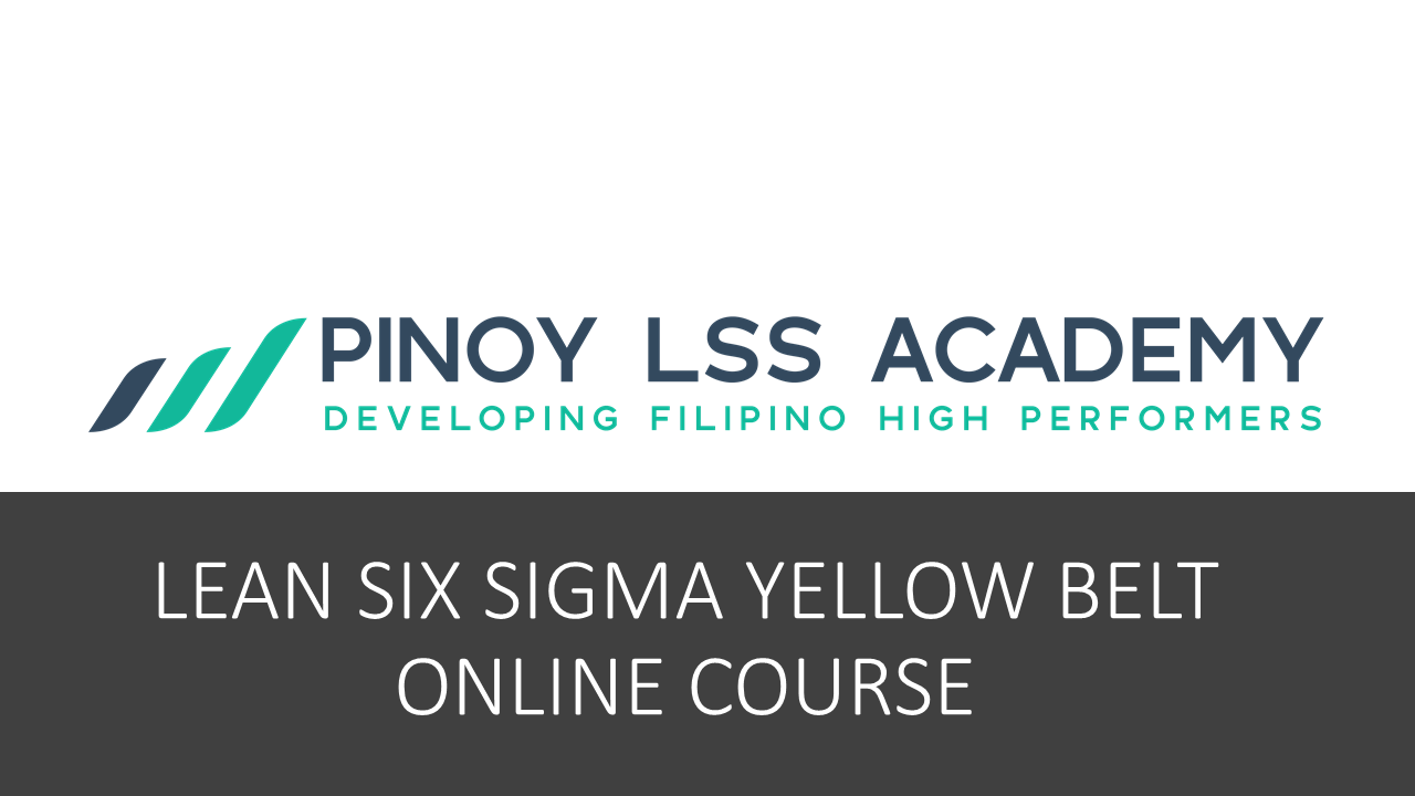 Lean six sigma yellow belt offer pinoy lss academy online 1betcityfo Image collections
