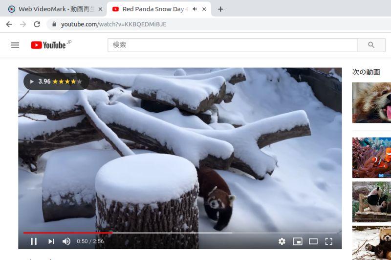 YouTube 計測画面